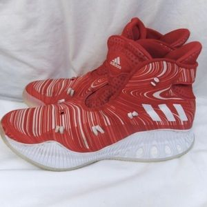 Adidas Men's Red/White Hi top Athletic Shoes 13.5
